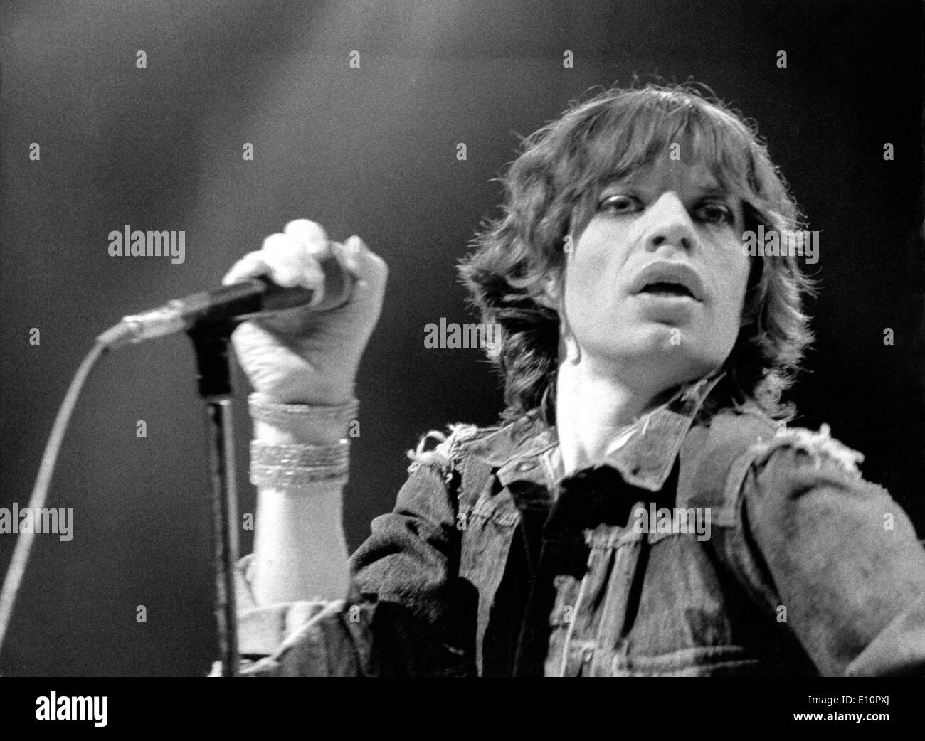 Rolling Stones singer Mick Jagger performs in Munich - Stock Image