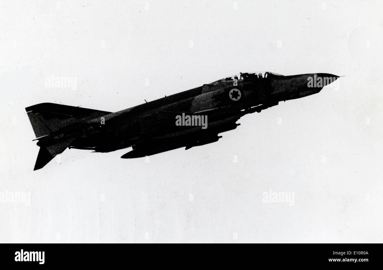 1973 Yom Kipper War - 'F-4 Phantom II' a supersonic, long-range, all-weather fighter bomber, operated by the Iranian Air Force. - Stock Image