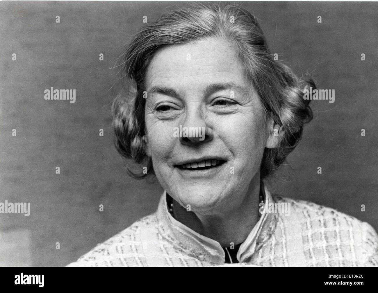Dec. 11, 1973 - Stockholm, Sweden - Writer, Novelist MARY MCCARTHY being interviewed at a press conference in Stockholm. - Stock Image