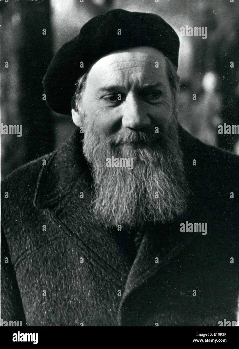 Dec. 12, 1973 - Russian Writer starts Literature Courses in Paris: Andre Siniavski, the Russian writer and poet who once get his works published aboard under the pseudonyme of Abraham Terz, and in consequence was arrested and served seven years in a concentration camp, sought asylum in France after his liberation, and has now started courses, at the Grand Palais, Paris, in Russian literature dealing with the early ages of Russian to the 20th. century. Photo shows Andre Siniavski pictured arriving at the Grand Palais, Paris, where he has started courses in Russian literature. - Stock Image