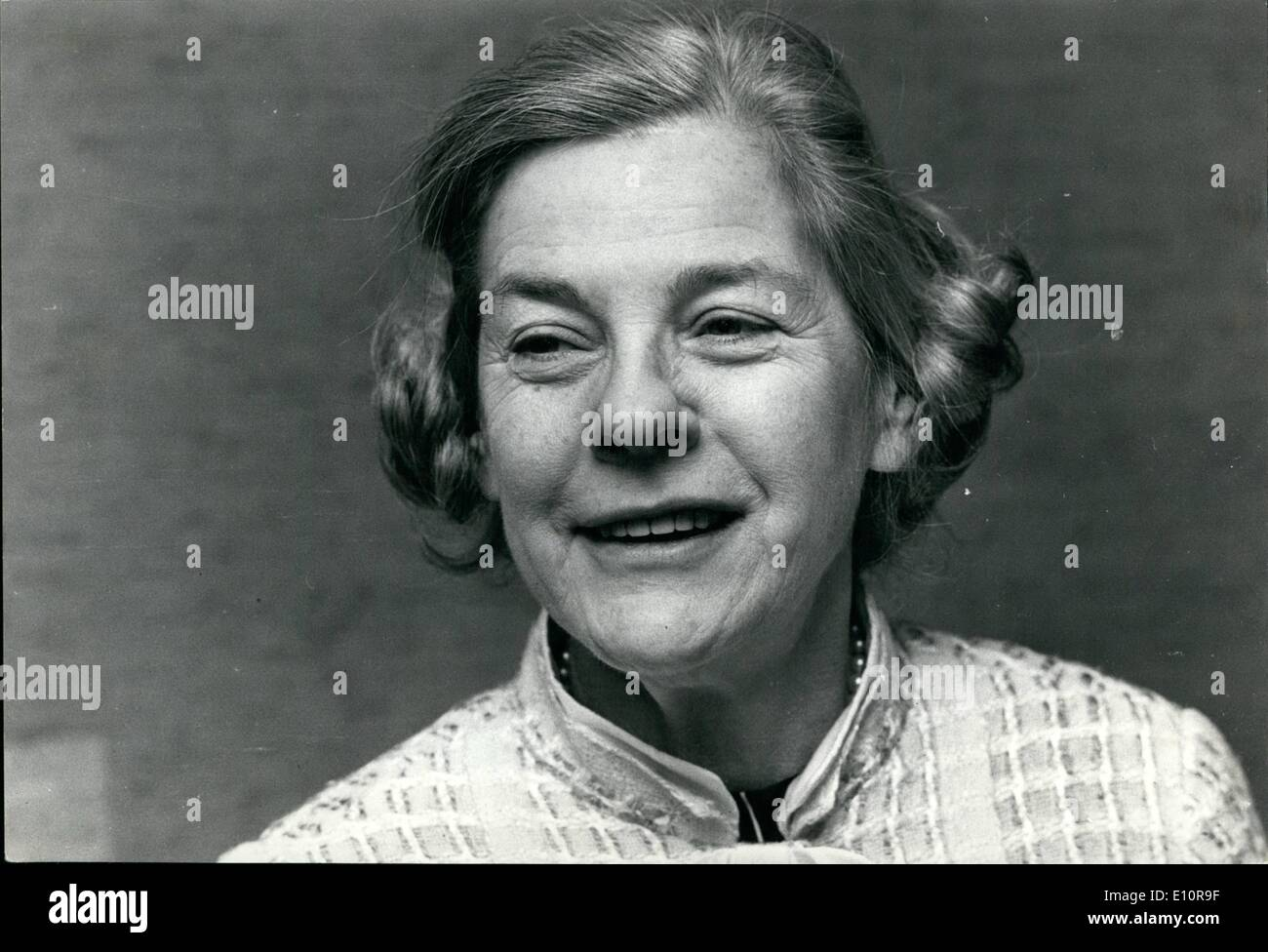 Dec. 12, 1973 - Mary Mccarthy In Stockholm: The American novelist Mary Mccarthy is in Stockholm to make publicity for her book ''Memories of a catholic girl'' which has recently been translated into Swedish and edited here. It was published in the U.S. 16 years ago. Recently she has been observed for her articles in the observer about the watergate scandal. Her opinion is that nixon should retire and that Eugene Mccarthy is elected new prresident in the States - Stock Image