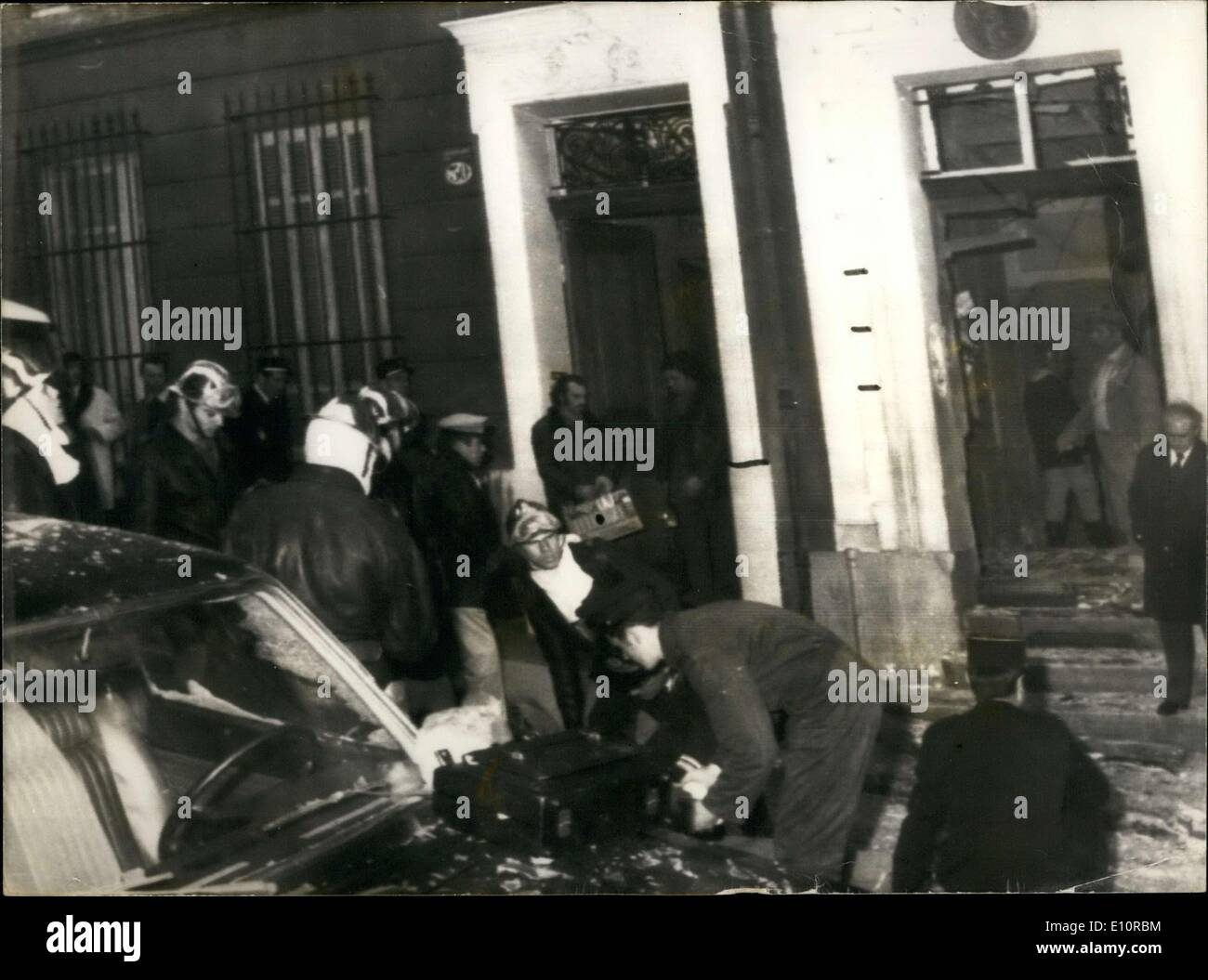 Dec. 14, 1973 - Aftermath of an Explosion Against the Algerian Consulate - Stock Image