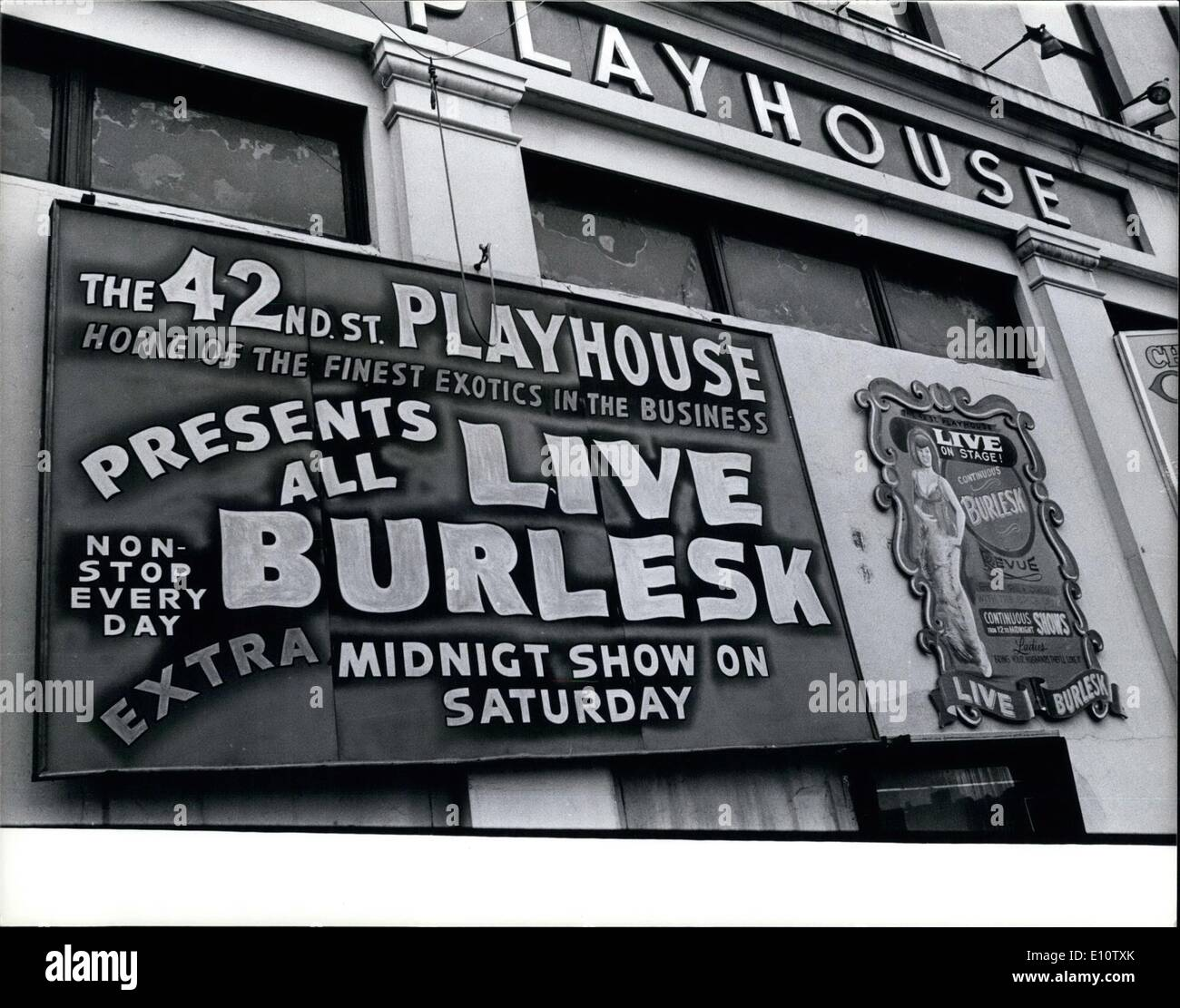 Mar. 03, 1974 - 42nd St. Prayhouse Theatre - Stock Image