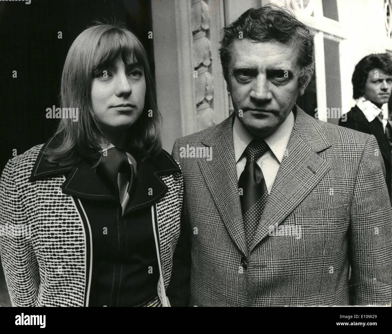 Apr. 04, 1974 - Soviet Author who considers himself expelled from Russia arrives in London.: Vladimir Maximov, the dissident Soviet author of the novel ''The Seven Days of Creation'' arrived in London accompanied by his wife. The 44-year-old writer who left Russia last month when, after months of persecution, the authorities granted him and his wife a one-year exit visa. But exclaimed in France and Germany. The novel tells the story of the evolution or decline of the Soviet system over the past half century as seen through the eyes of an ordinary Russian Family - Stock Image