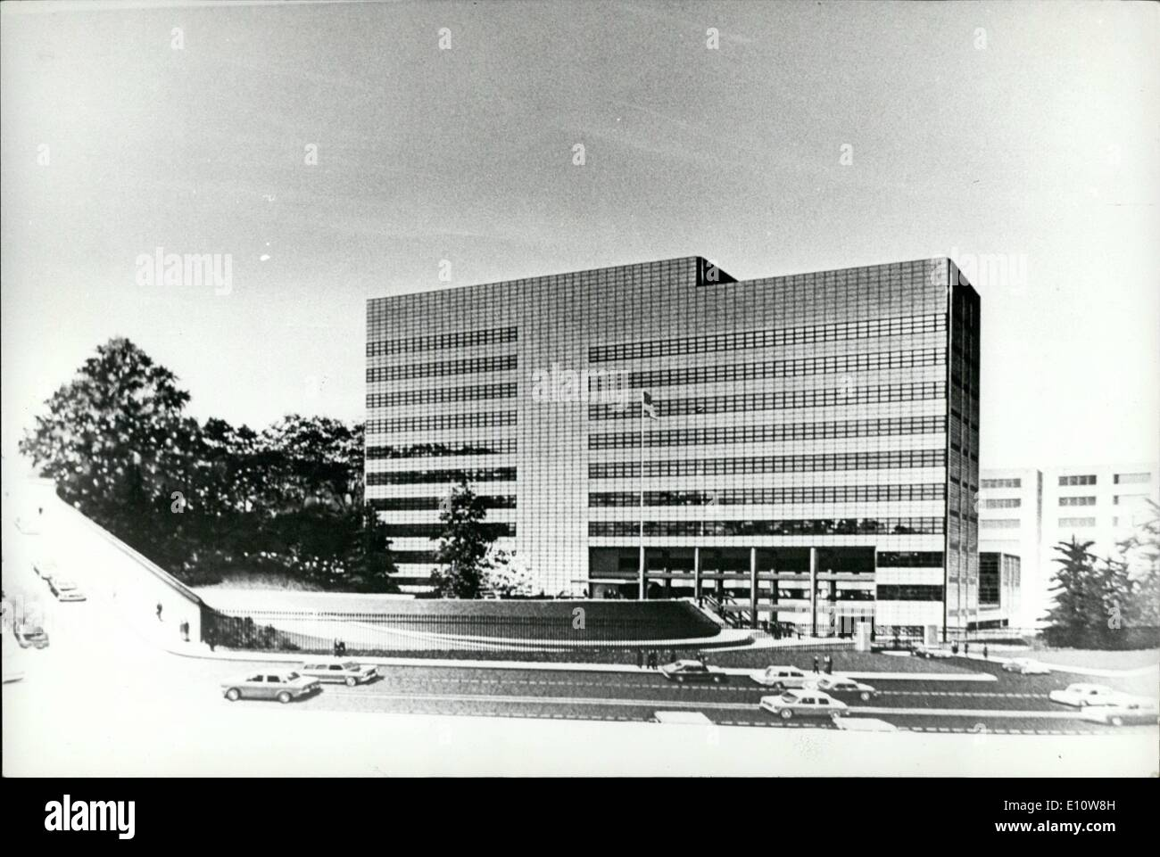 Jun. 06, 1974 - ''Hoover's Folly'' in Tokyo demolished. The U.S. Embassy in Tokyo, which was named ''Hoover's folly'' when critics charged that the exorbitant sum of -million was squanderd on it by the late president Herbert hoover during the ''Great Depression'' in 1931, is being demolished to make way for a glass paneled new American embassy. The old embassy was designed by Antonin Raymond. a disciple of Frank Lloyd Wright, and was referred to as an edifice of mixed architectural blood. The new embassy has been designed by Cesar Pelli of Gruen Associates in Los Angeles. U.S.A - Stock Image