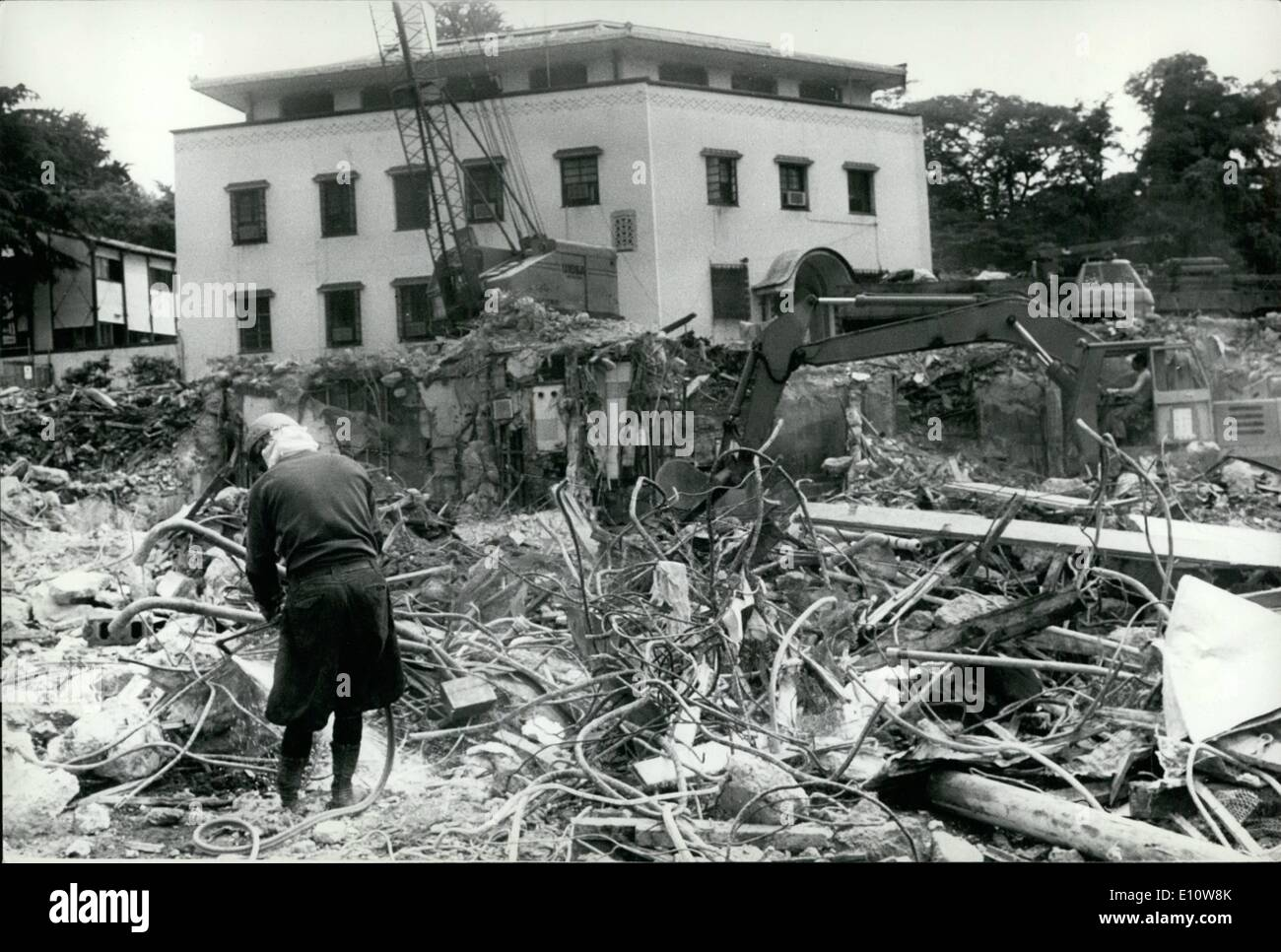 Jun. 06, 1974 - ''Hoover's Folly'' in Tokyo demolished. The U.S.. Embassy in Tokyo, which was named ''Hoover's folly'' when critics charged that the exorbitant sum of -million was squanders on it by the late president Herbert hoover during the ''Great depression'' in 1931, is being demolished to make way for a glass paneled new American embassy. The old embassy was designed by Antonin Raymond. a disciple of Frank Lloyd wright, and was referred to as an edifice of mixed architectural blood. The new embassy has been designed by crease pelli of green associates in los angeles. U.S.A - Stock Image