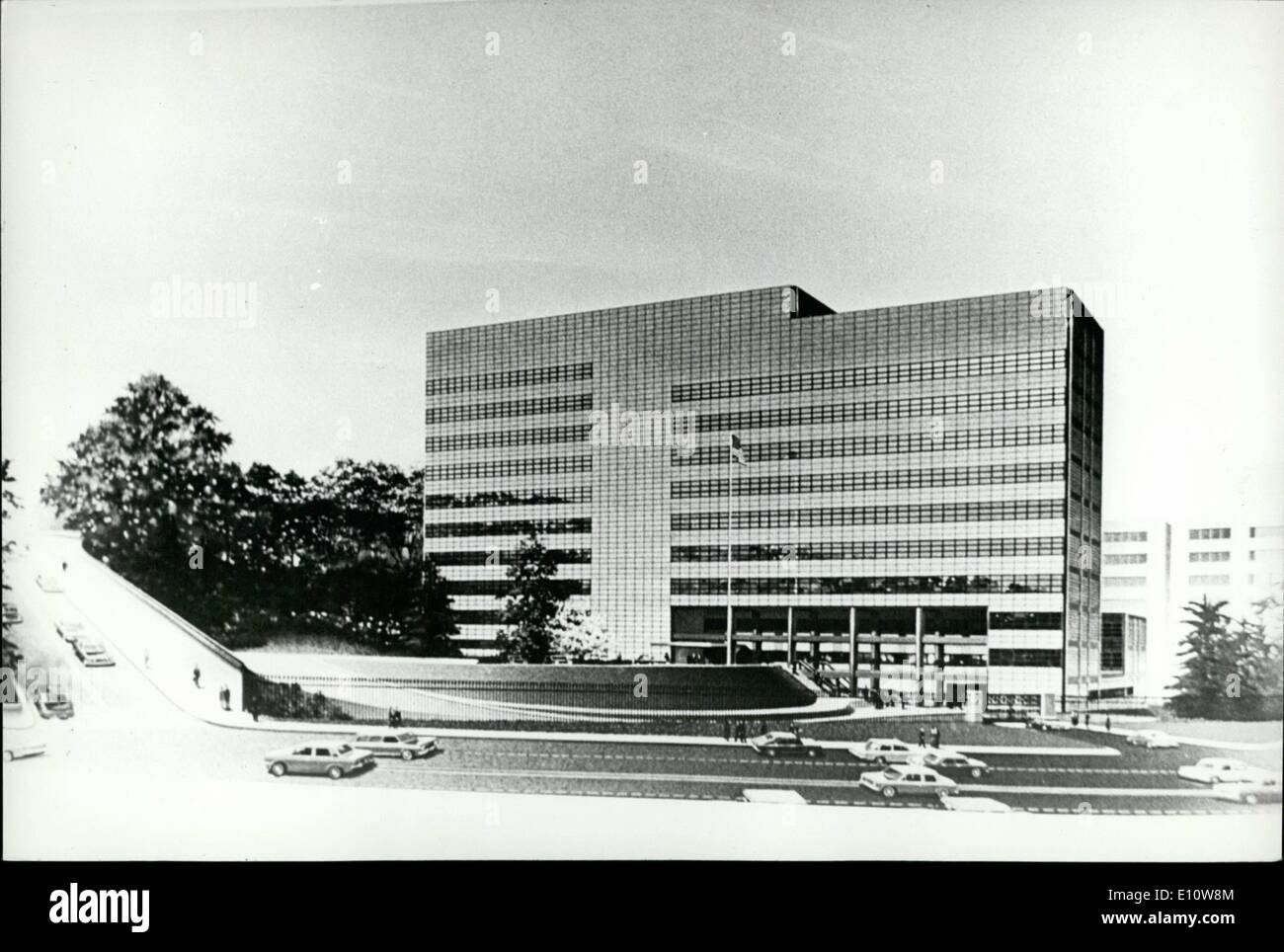 Jun. 06, 1974 - ''Hoovers's Folly'' In Tokyo Demolished: The U.S. Embassy in Tokyo, which was named ''Hoover's Folly'' when critics charged that the exorbitant sum of -million was squandered on it by the late president Herbert Hoover during the ''Great Depression'' in 1931, is being demolished to make way for a glass paneled new American Embassy. The old embassy was designed by Antonin Raymond, a disciple of Frank Lloyd Wright, and was referred to as an edifice of mixed architectural blood. The new embassy has been designed by Cesar Pelli of Gruen Associates in Los Angeles. U.S.A - Stock Image