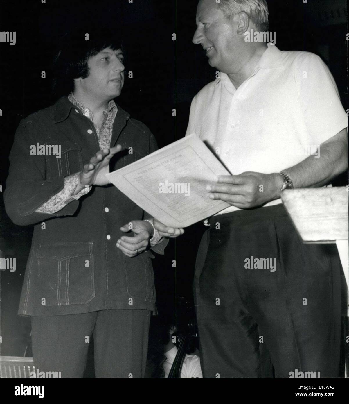 Jun. 10, 1974 - Mr. Heath Becomes Honorary Member of LSO. Conducts Wagner's Die Meistersinger Overture. Mr. Edward Stock Photo