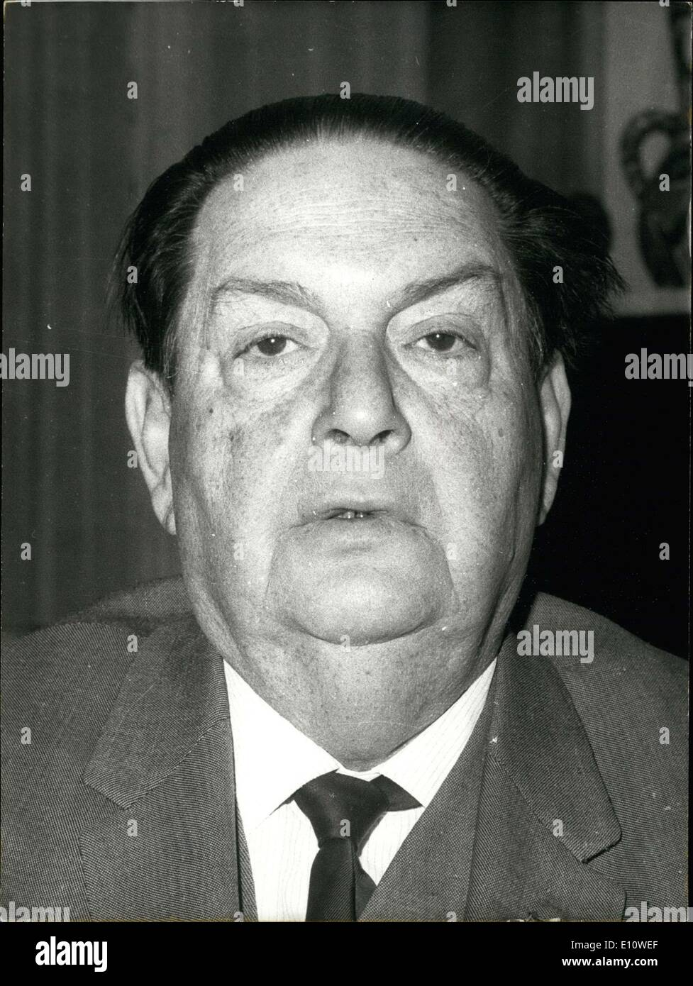 Jun. 25, 1974 - Milhaud was a famous composer who wrote 12 symphonies, 200 melodies, and more than 10 concertos during his career. He died in Geneva, Switzerland at 81 years old. - Stock Image