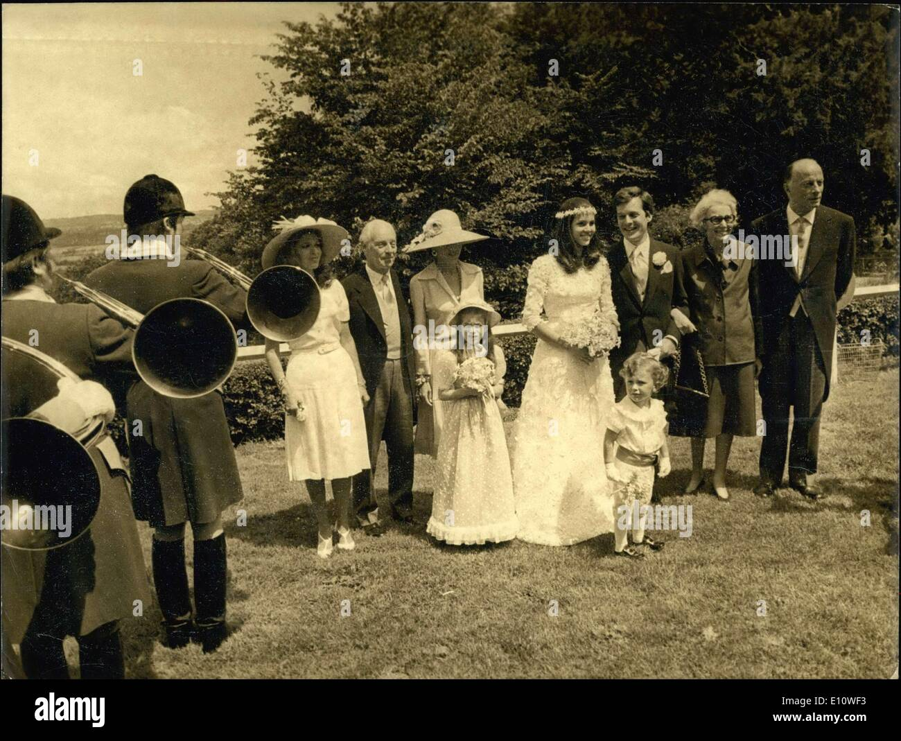 Jun. 29, 1974 - Marriage of David de Rothschild and Olympia Aldobrandini - Stock Image