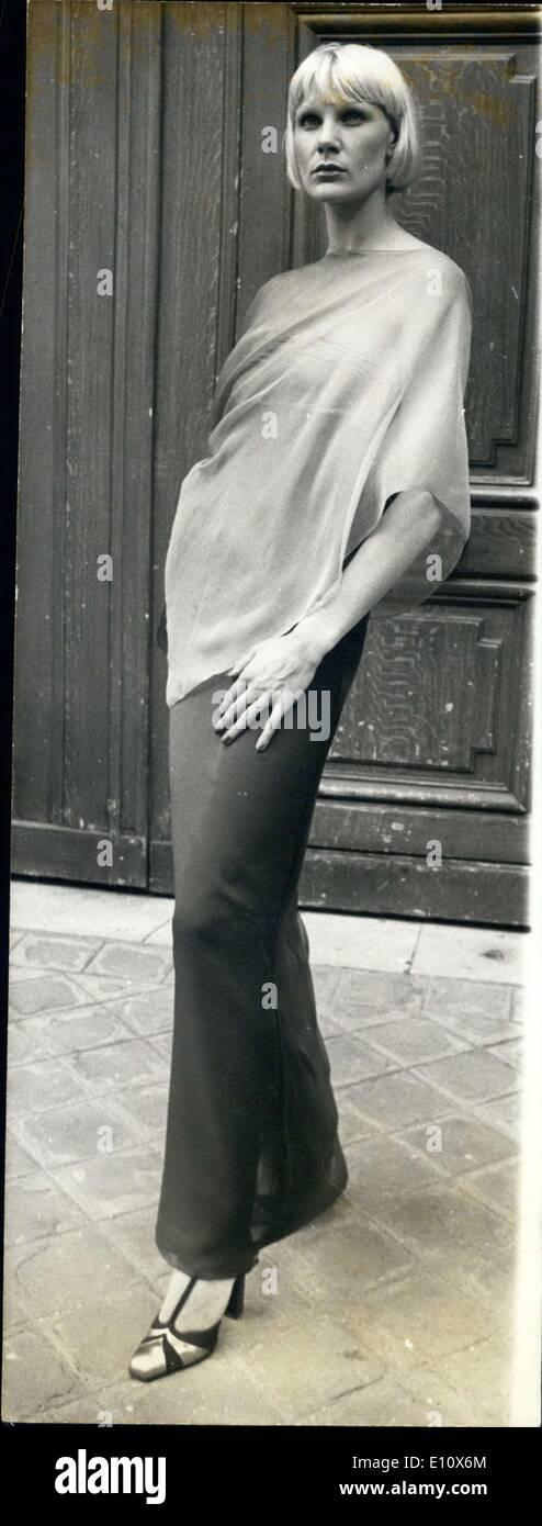Jul. 17, 1974 - Upper Body Drape - Stock Image