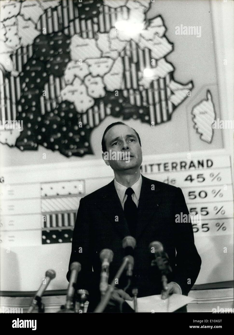 May 20, 1974 - He is at the Ministry of the Interior. - Stock Image