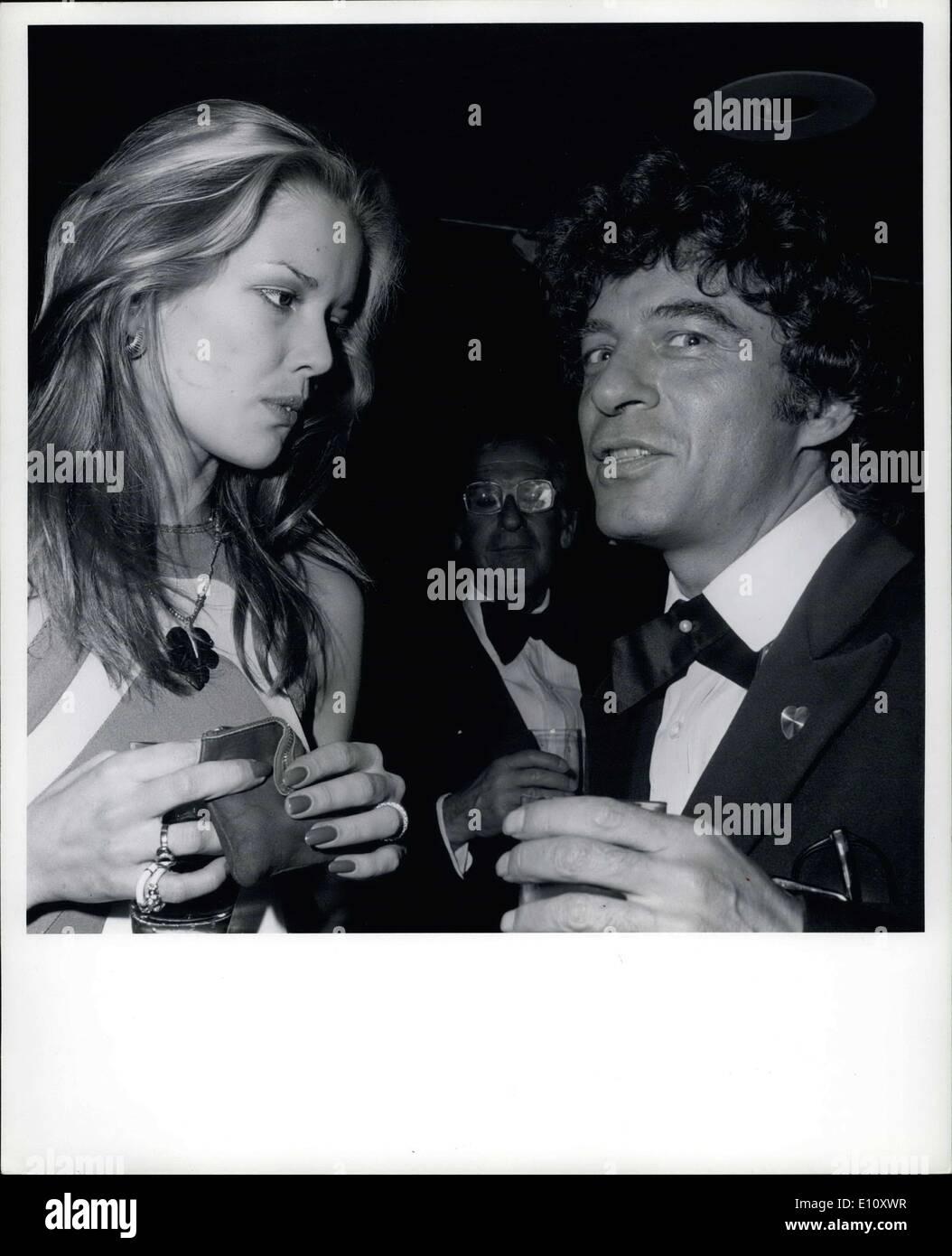 Jun. 06, 1974 - Mrs. Huntington Hartford & Jeffrey Dali Painter & nephew of Salvador Dali : Lisa Aoffman - Stock Image