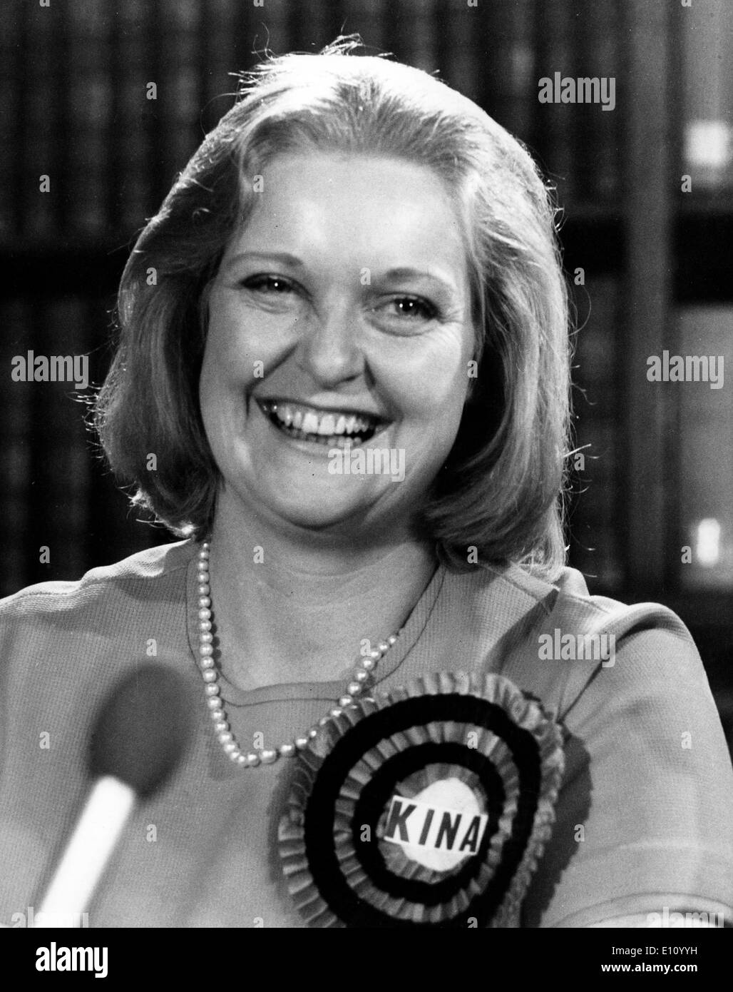 Lady KINA AVEBURY, wife of Lord Avebury, at Liberal Party press conference in London - Stock Image