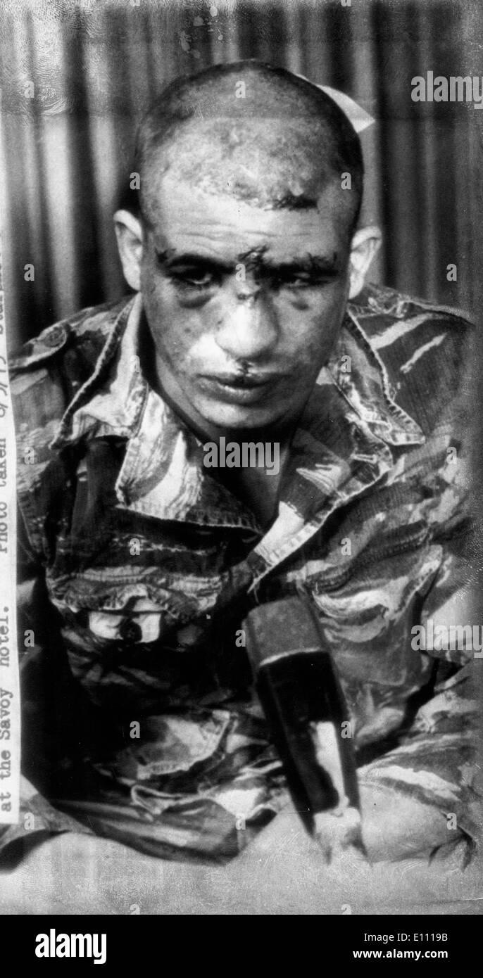 Bedouin terrorist captured by Israelis - Stock Image