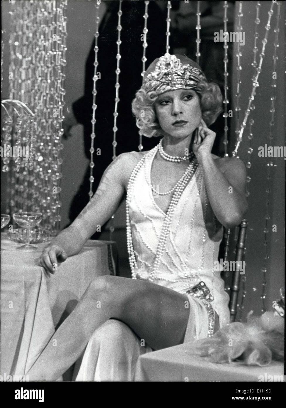 Mar. 11, 1975 - Sylvie Vartan Films Retro Television Show - Stock Image