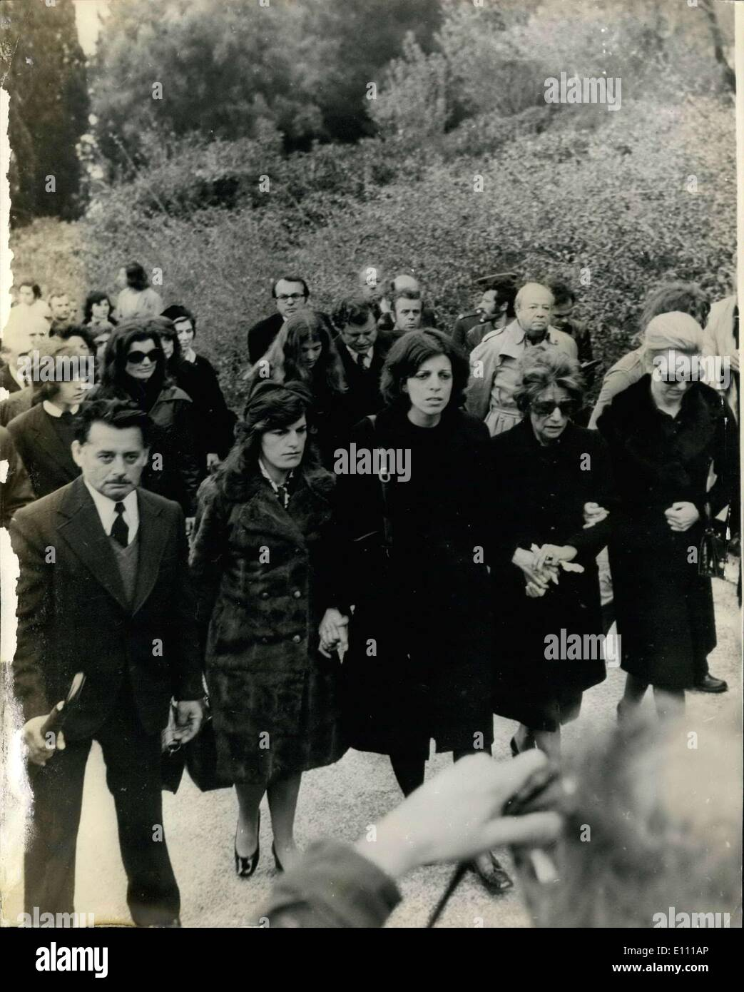 Mar  21, 1975 - Funeral of Aristotle Onassis  The Funeral took place
