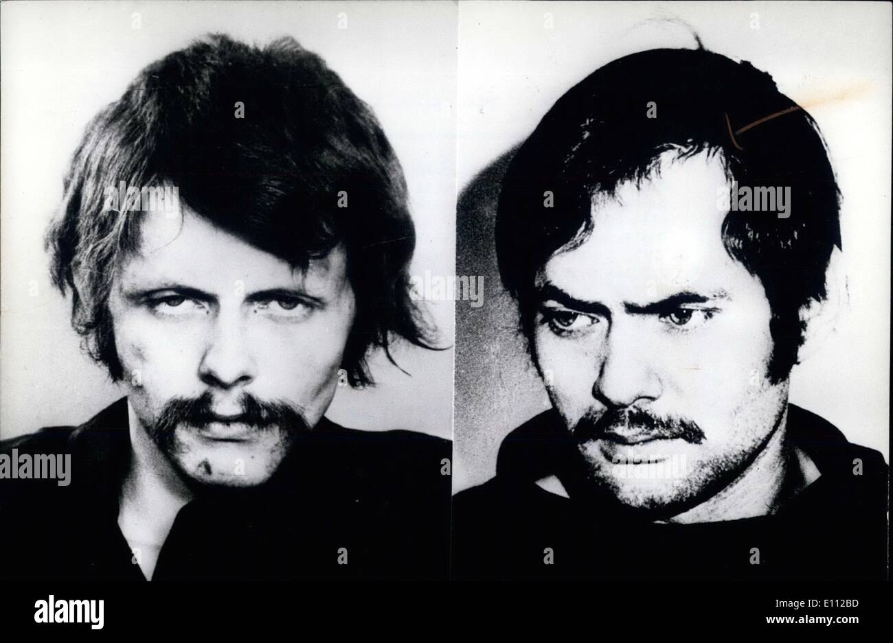 May 05, 1975 - May 21st: Start of trial against leading members of Baader/Meinhof group in Stuttgart: On May 21st 1975, the proceedings against four leading members of the Baader/Mainhof group will start in Stuttgart. About 500 witnesses and expert witnesses will be heard during this trial which will take between 6 and 18 months - Stock Image