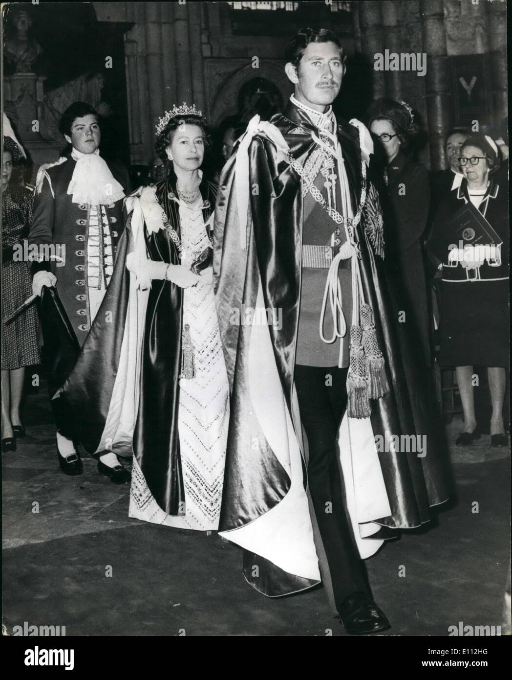 May 05, 1975 - The Prince of Wales is Installed as Great Master of the Most Honourable Order of the Bath by the Stock Photo