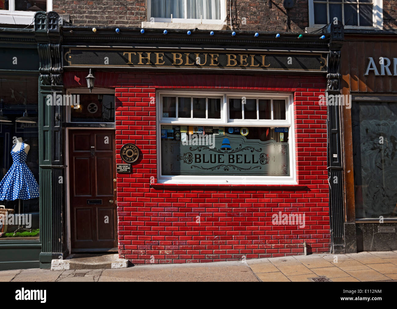 The Blue Bell pub Fossgate York North Yorkshire England UK United Kingdom GB Great Britain - Stock Image
