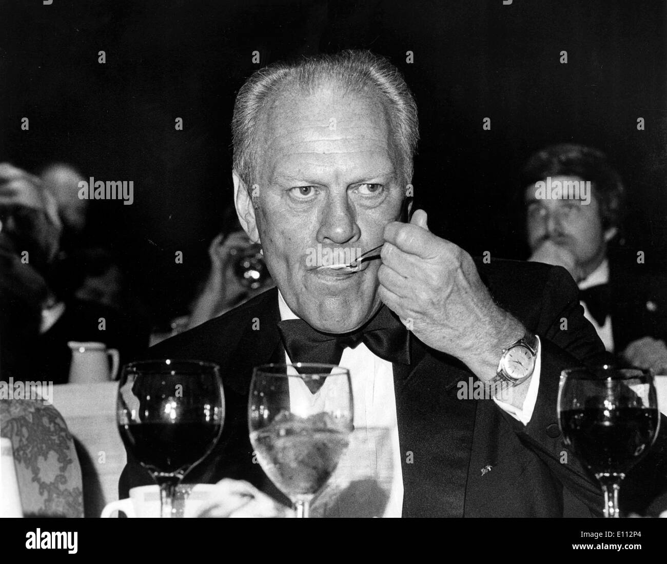President Ford attends black tie event - Stock Image