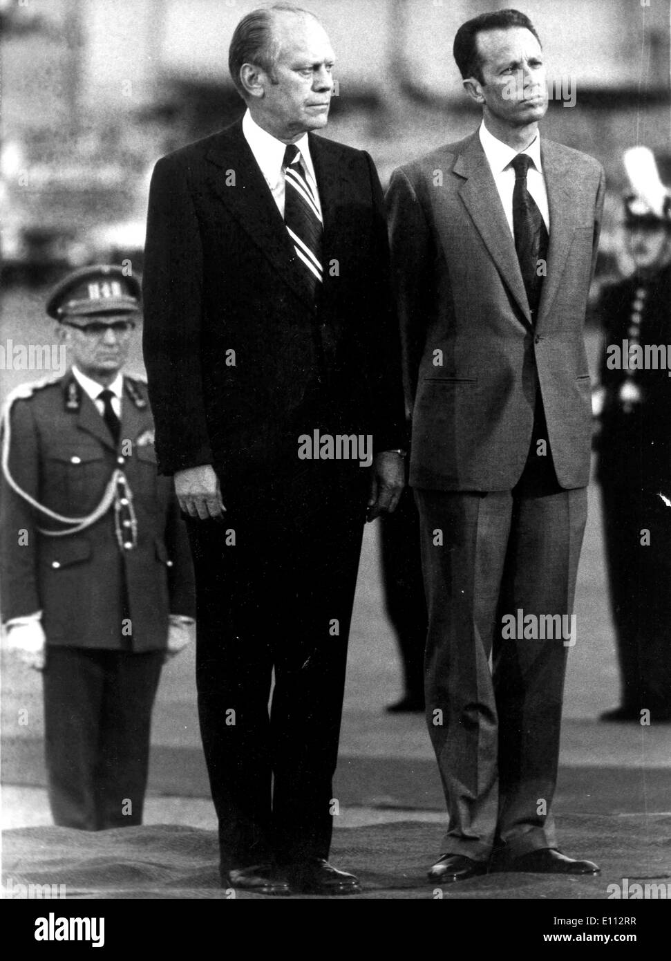 King Baudouin I and President Gerald Ford Stock Photo