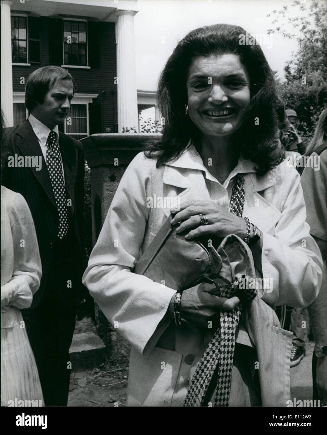 Jun. 06, 1975 - Jackie at Concord - Stock Image