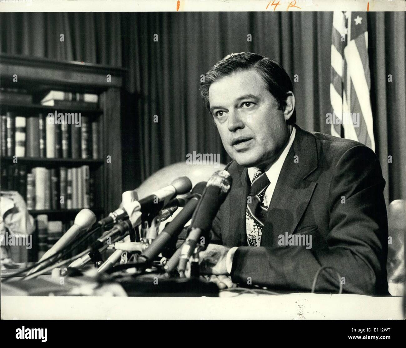 Jun. 06, 1975 - Senator Frank Church (Democrat of Idaho) chairman of the Senate Special Commission on Intelligence which is currently investigating CIA involvement in Assasination - Stock Image