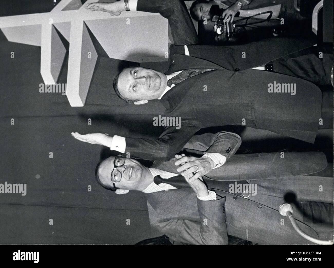 Jun. 28, 1975 - Andre Bord and Jacques Chirac - Stock Image