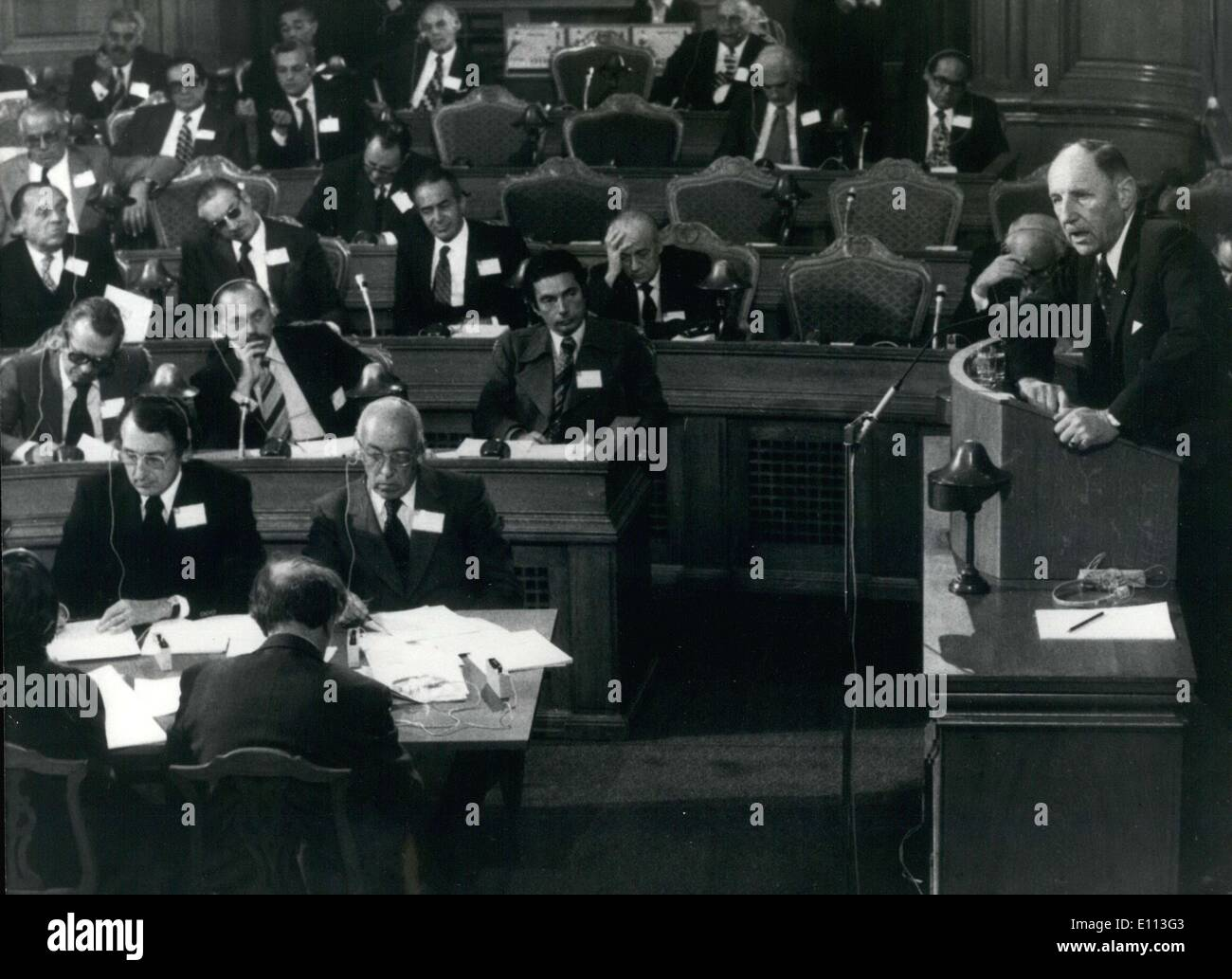 Sep. 28, 1975 - NATO held its 21st annual session in Denmark. - Stock Image