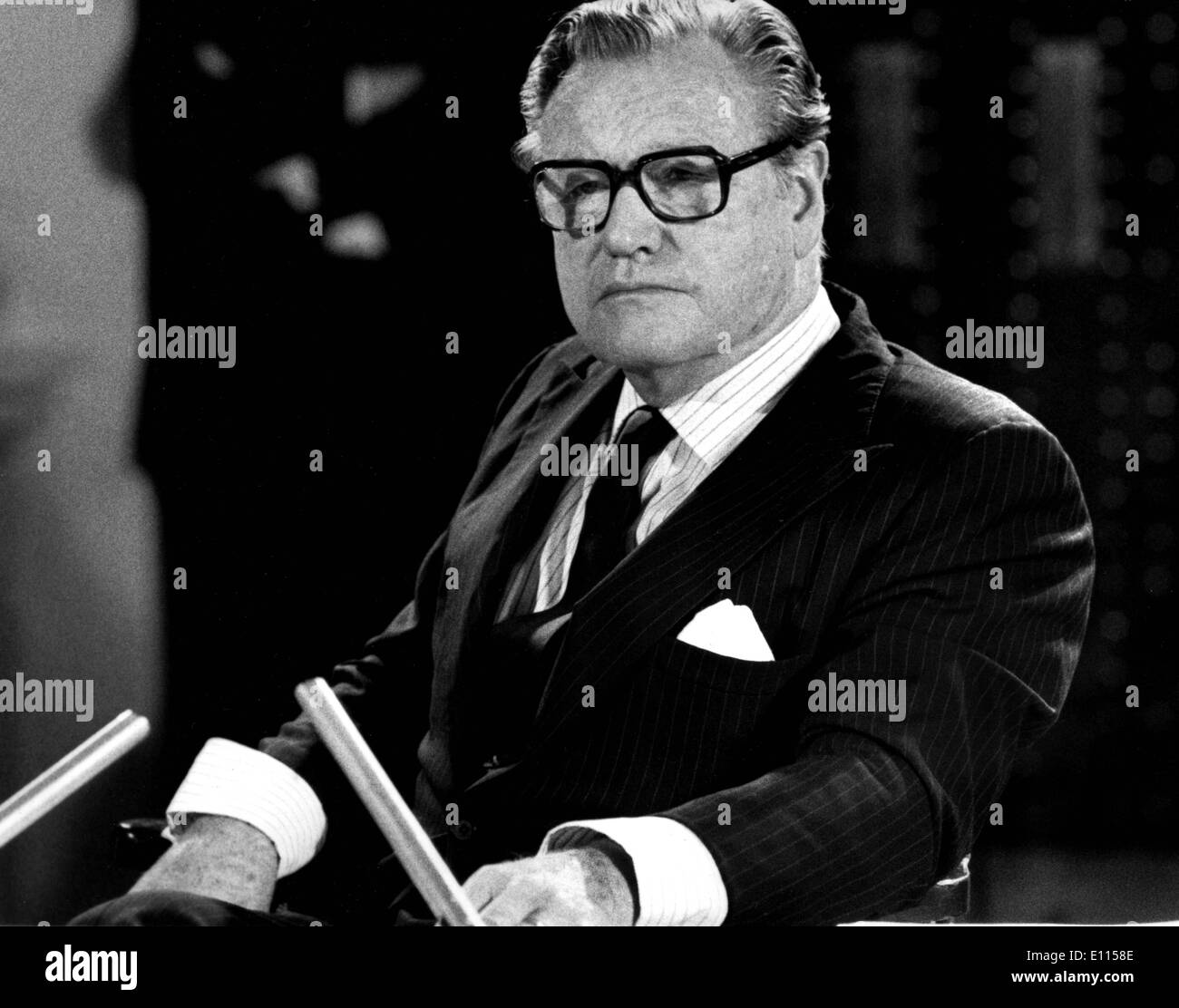 Aug 27, 1975; New York, NY, USA; Vice President under Gerald Ford, NELSON ROCKEFELLER, testifies before the Noreland Commission - Stock Image
