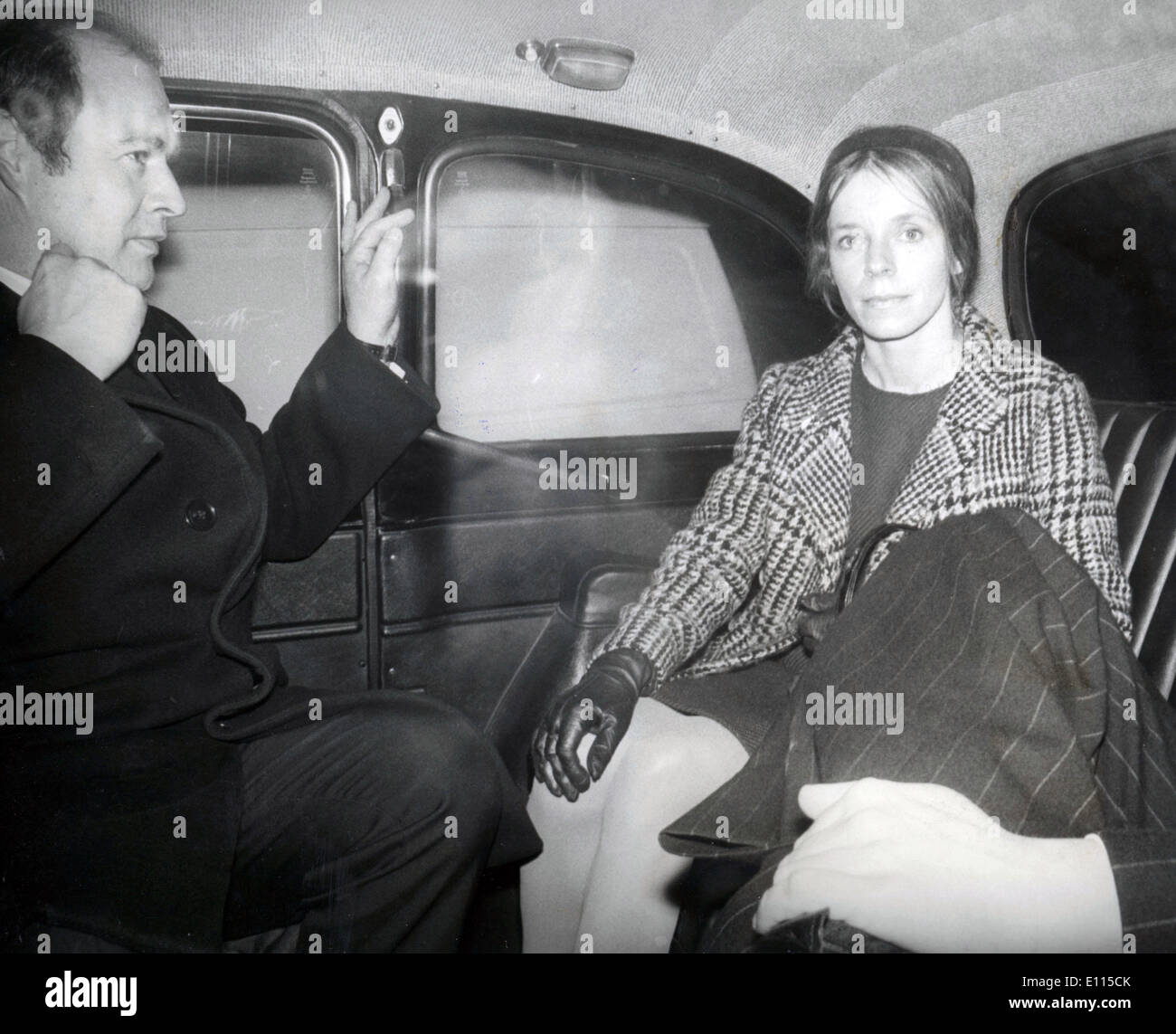 Dec. 22, 1975 - London, England, U.K. - LADY LUCAN accompanied by one of her lawyers leavign by taxi after hear appearance at the compensation Board in Russell Square Today. - Stock Image