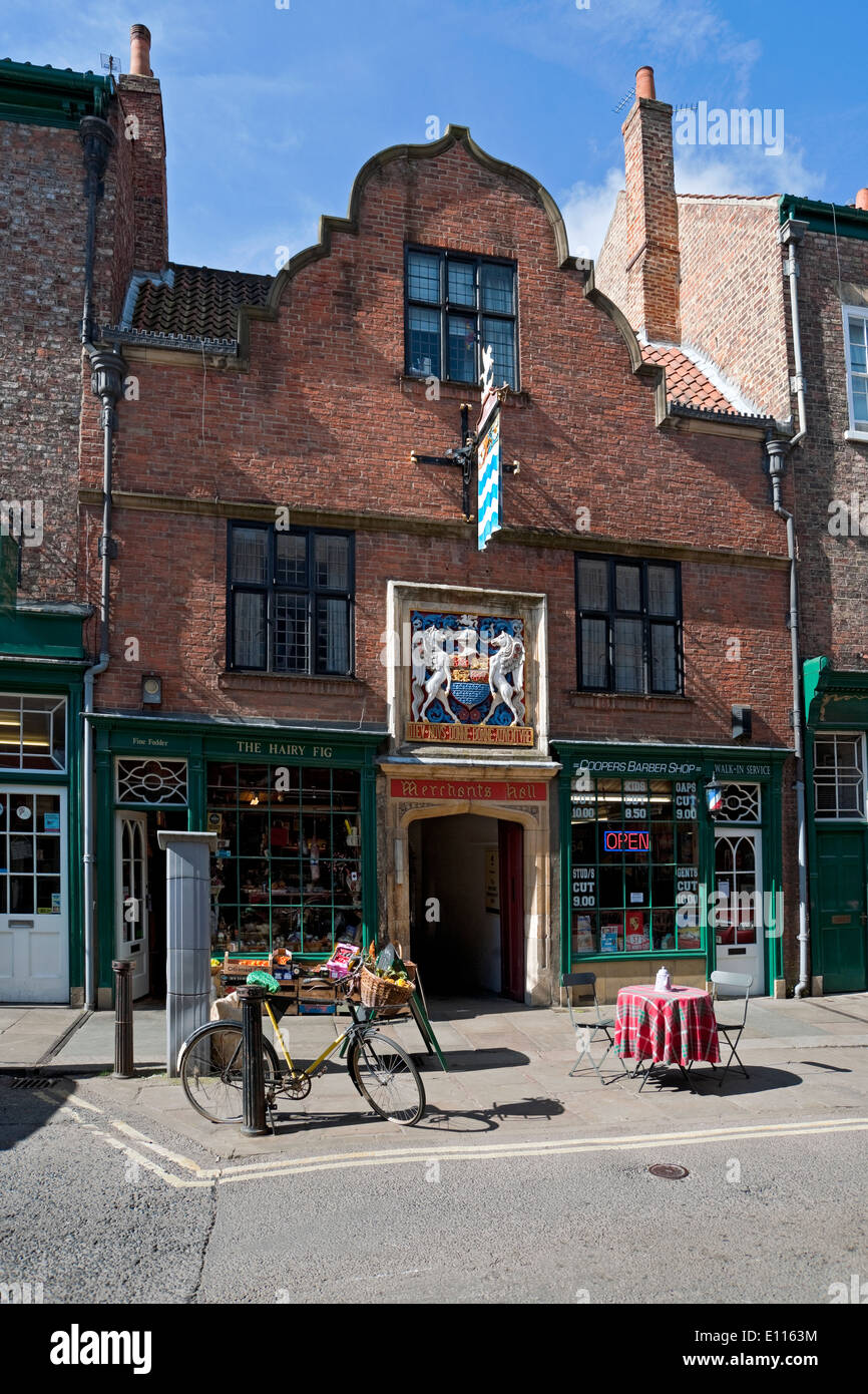 Entrance to the Merchant Adventurers Hall Fossgate York North Yorkshire England UK United Kingdom GB Great Britain - Stock Image