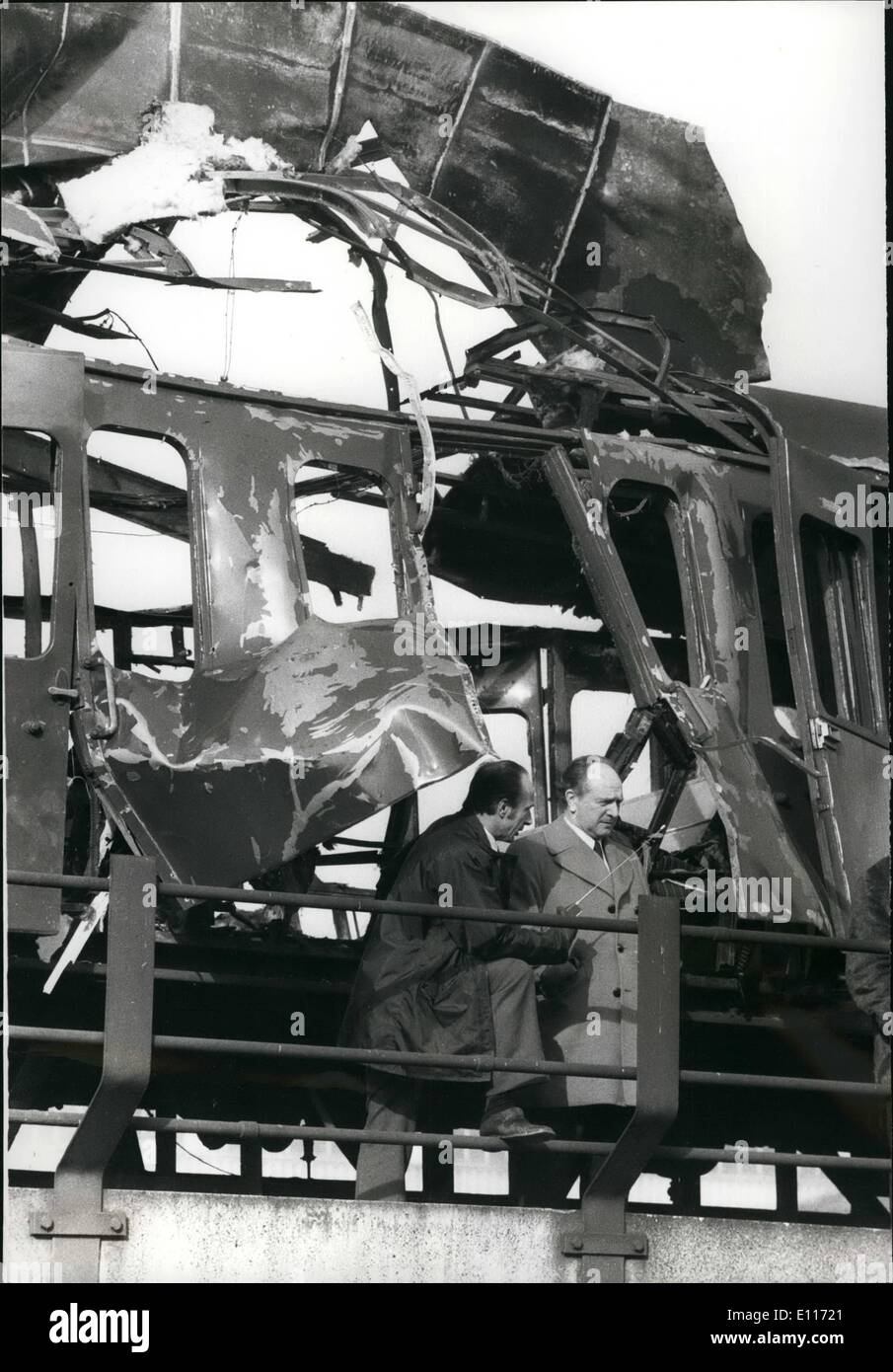Mar. 03, 1976 - A Bomb Blasts An Empty Train Outside Cannon Street Station: A bomb exploded on an empty train thatStock Photo
