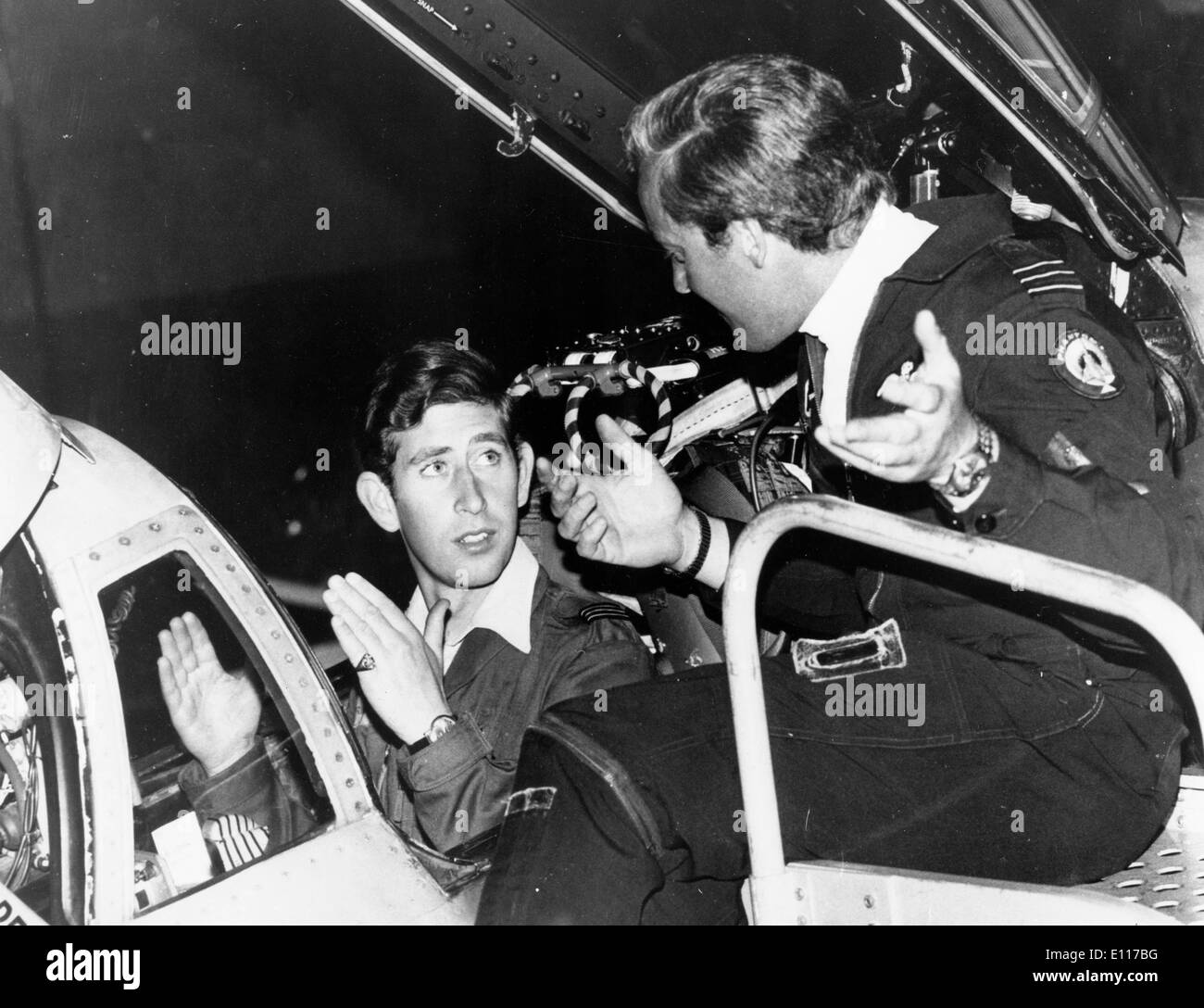 Prince Charles is briefed to fly Phantom aircraft - Stock Image