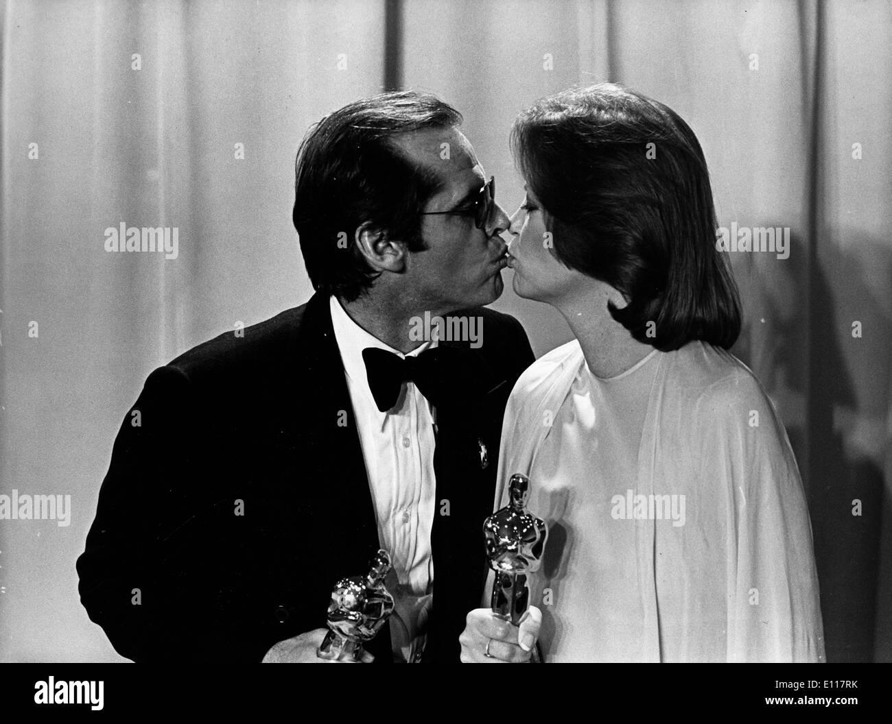 Jack Nicholson and Louis Fletcher win Oscars Stock Photo