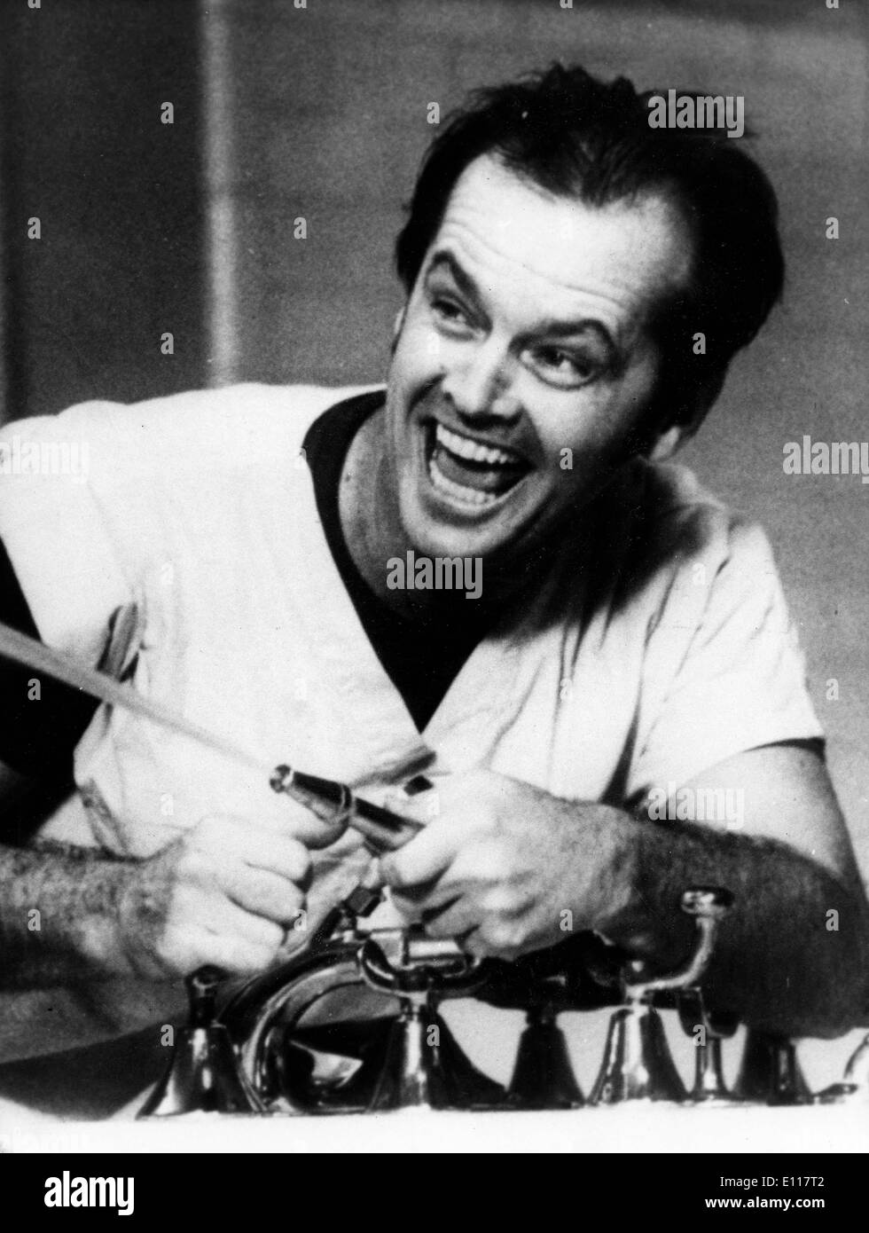 Jack Nicholson in 'One Flew Over the Cuckoos Nest' Stock Photo