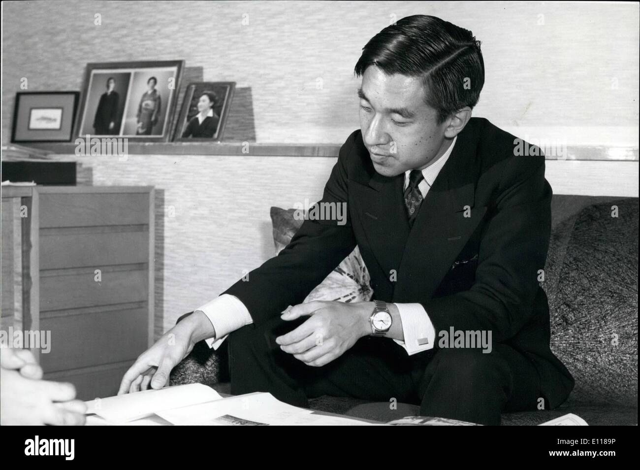 Apr. 04, 1976 - imperial Family Should Be Neutral Politically-Says Japan's Crown Prince: Crown Prince Akihito - Stock Image