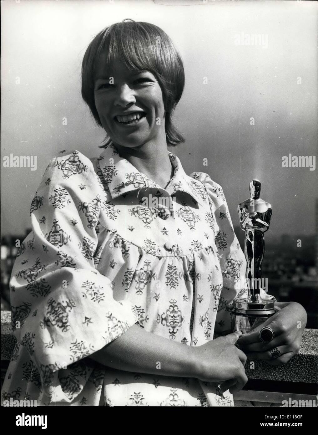 Apr. 20, 1976 - Glenda Jackson - Stock Image