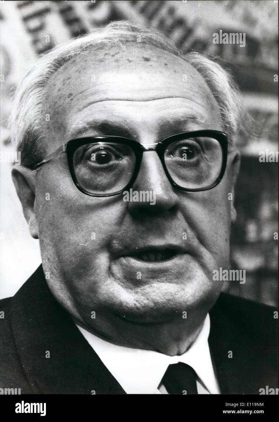 May 05, 1976 - The political leaders engaged for the propaganda for their parities for the next 20 June General election. Giuseppe Saragat. leader of PSDI (Social Democrats). He is the former President of the Republic. - Stock Image