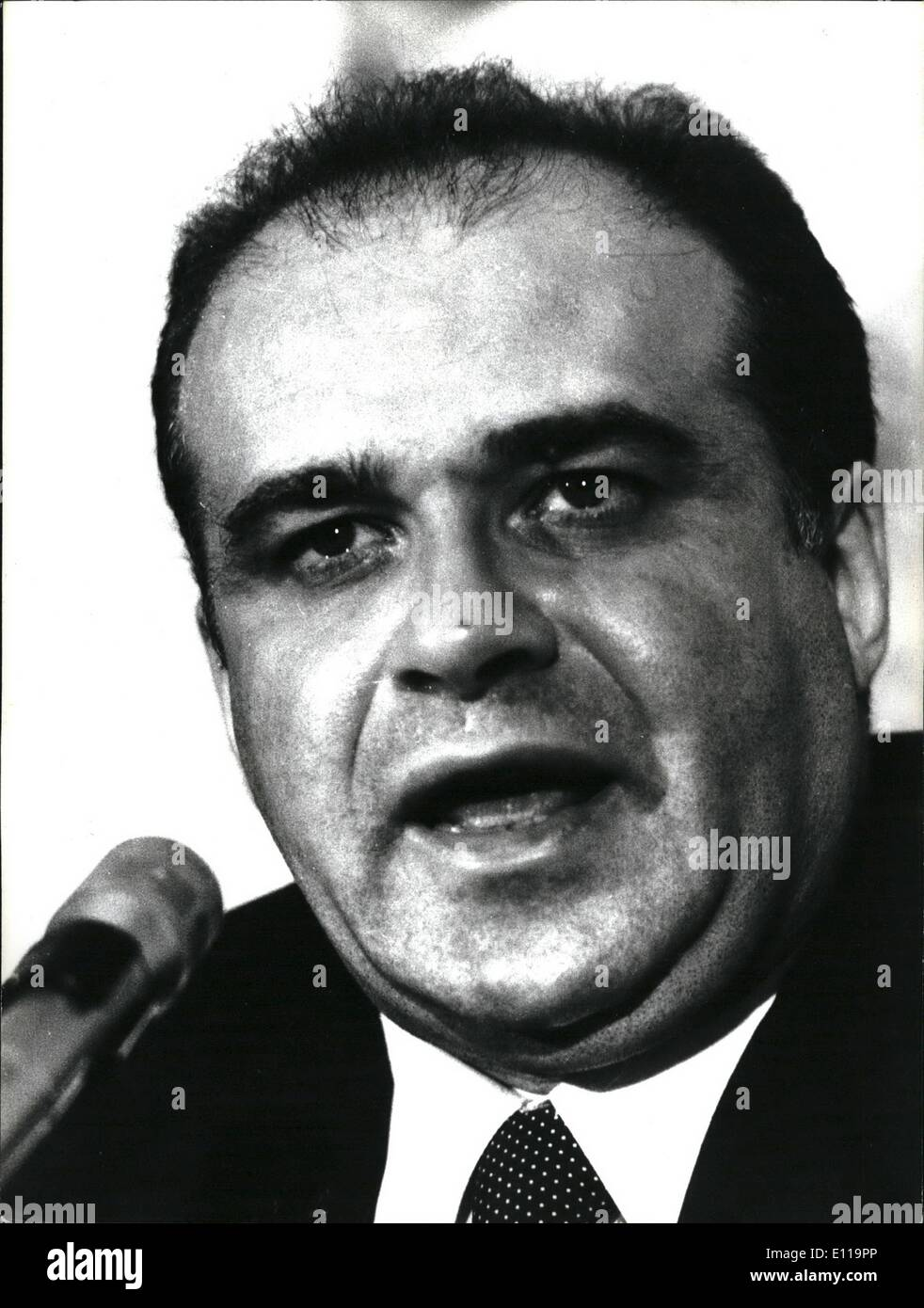 May 05, 1976 - The political leaders engaged for the propaganda for their parties for the next 20 June general election. photo shows Valerie Zemone, leader of the Pli (Liberal party) - Stock Image
