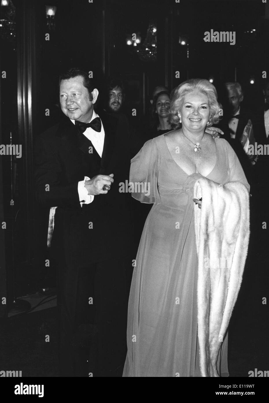 Dancer Donald O'Connor at premiere with wife Gloria - Stock Image