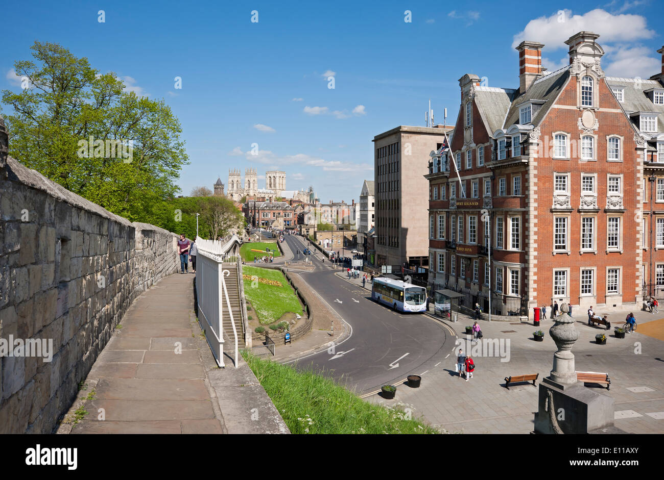 The Grand Hotel and Spa from the City Walls York North Yorkshire England UK United Kingdom GB Great Britain - Stock Image