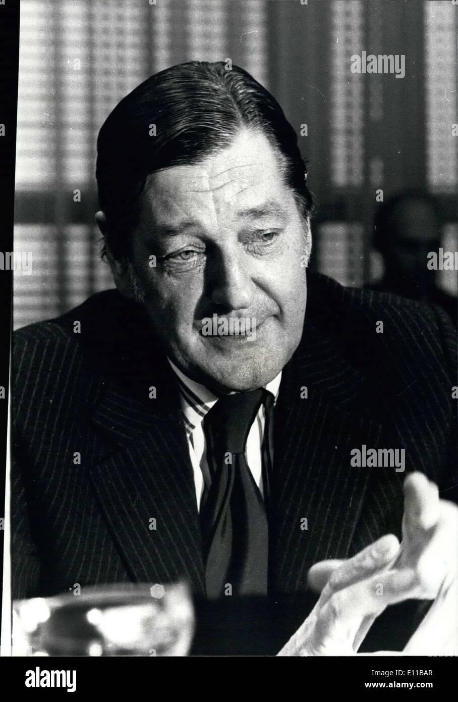 Nov. 15, 1976 - Englishman Anthony Crosland at European Community Council - Stock Image