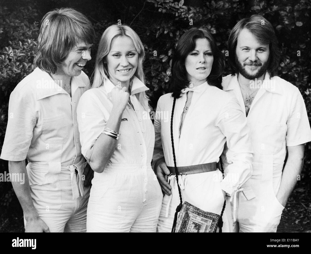 Pop group ABBA on promotional tour - Stock Image