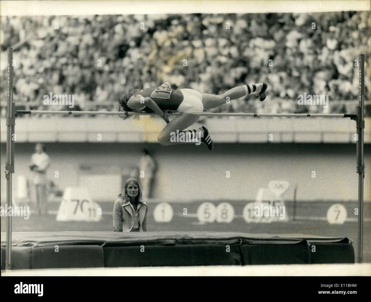 Jul. 30, 1976 - Germany's Rosemarie Ackerman Wins Gold with 1.95m High Jump - Stock Image