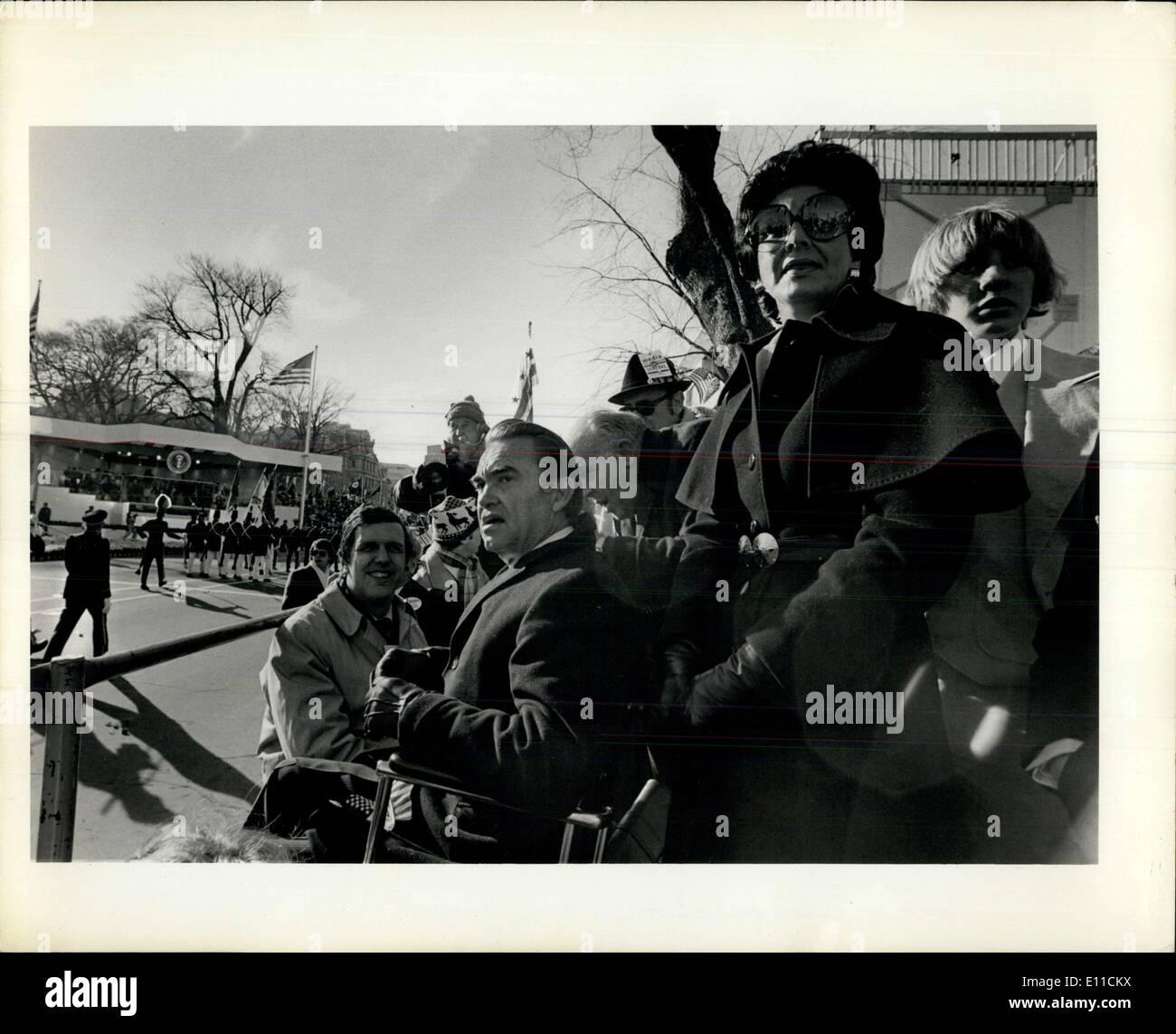 Jan. 20, 1977 - Carter Inauguration. - Stock Image