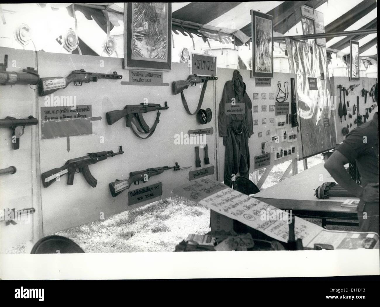Apr. 04, 1977 - EXHIBITION OF COMMUNIST INSURGENT'S WEAPONS ON SHOW IN BANGKOK. Since the time the Thai National Stock Photo