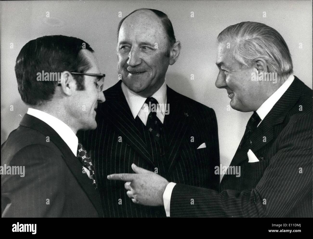 May 05, 1977 - Ministerial Meeting of North Atlantic Treaty Organization London - Photo Shows : Seen during the Stock Photo
