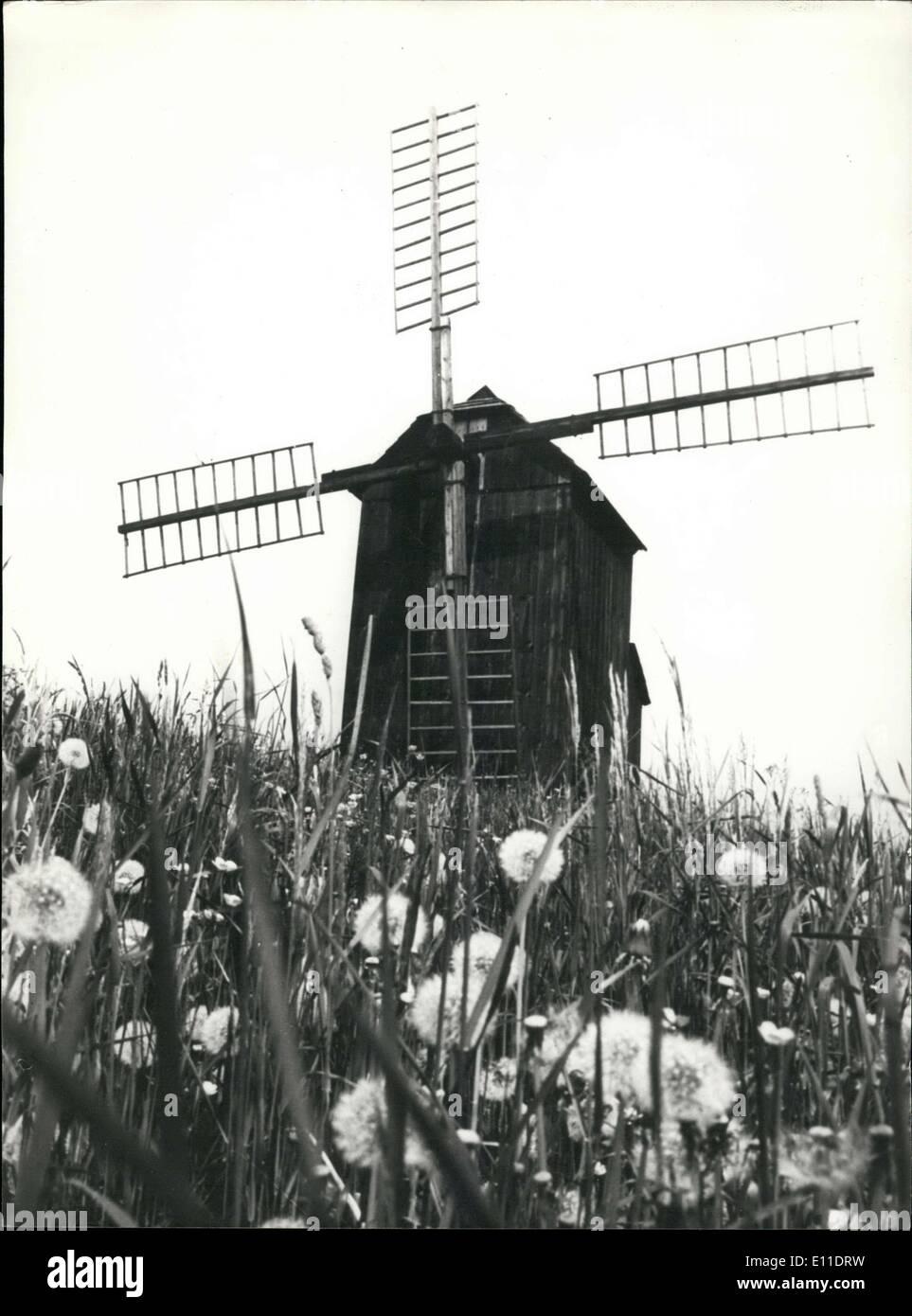 Aug. 23, 1977 - Windmill in Ostrava-Poruba, Czechoslovakia - Stock Image
